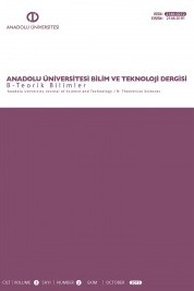 Anadolu University Journal of Science and Technology B - Theoretical Sciences